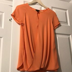 Womens Cross Hang Tangerine Blouse